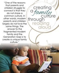 Creating a Family Culture through Reading Aloud from sponsor @HEDUAOnline