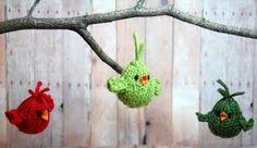Znalezione obrazy dla zapytania knitting christmas ornaments