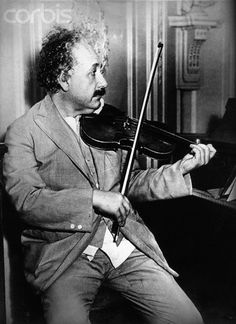 """Music does not influence research work, but both are nourished by the same sort of longing, and they complement each other in the satisfaction they offer."" -Albert Einstein Einstein Plays His Violin"