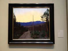 Harold Sohlberg, A Country Road as seen at the Metropolitan Museum of Art Mountain Art, Mountain Landscape, Landscape Art, Nocturne, Getty Museum, Perspective Drawing, Sky Painting, Post Impressionism, Impressionist Paintings