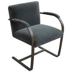Rare Bronze Flat-Bar Brno Chair by Mies van der Rohe | From a unique collection of antique and modern chairs at https://www.1stdibs.com/furniture/seating/chairs/
