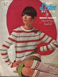 1960s crochet pattern from Mary Quant. The socks are amazing.