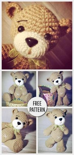 Mesmerizing Crochet an Amigurumi Rabbit Ideas. Lovely Crochet an Amigurumi Rabbit Ideas. Crochet Diy, Quick Crochet, Crochet Dolls, Crochet Bunny, Crochet Bear Patterns, Crochet Designs, Crochet Classes, Crochet Projects, Amigurumi Doll