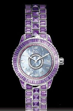 Wow a Dior watch with amethyst