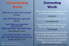 Connecting words for positive parenting Natural Parenting, Peaceful Parenting, Gentle Parenting, Parenting Quotes, Parenting Advice, Kids And Parenting, Discipline Quotes, Positive Discipline, Connecting Words
