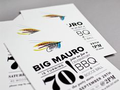 70th Birthday Party Invitations by McMillian + Furlow via Oh So Beautiful Paper