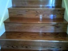 Carpet Stairs to Stained Oak Stairs Laminate Flooring On Stairs, Installing Laminate Flooring, Wood Laminate, Carpet Flooring, Hardwood Floors, Wood Flooring, Redo Stairs, Oak Stairs, Staircase Makeover