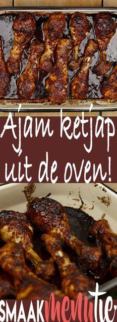 Ajam ketjap #recept #recipe #indonesianfood Dutch Recipes, Asian Recipes, Cooking Recipes, Healthy Recipes, Ethnic Recipes, Easy Diner, Asian Kitchen, Good Food, Yummy Food