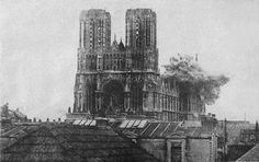 An old picture of the Notre Dame cathedral being bombed - How did they capture this moment without a phone!