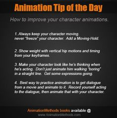Character Animation tip