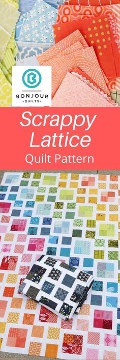 Twin Quilt Pattern, Half Square Triangle Quilts Pattern, Scrappy Quilt Patterns, Jelly Roll Quilt Patterns, Jellyroll Quilts, Scrappy Quilts, Pattern Blocks, Scrap Fabric Projects, Fabric Scraps