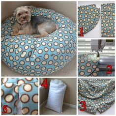 Molde para hacer una cama para perro