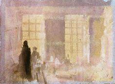 'Innenraum bei Petworth', wasserfarbe von William Turner (1789-1862, United Kingdom)