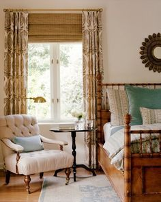 matchstick blinds with curtains - Google Search