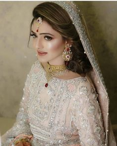 A-Line Wedding Dresses Collections Overview 36 Gorgeou… Bridal Mehndi Dresses, Pakistani Bridal Makeup, Walima Dress, Pakistani Wedding Outfits, Bridal Dress Design, Pakistani Wedding Dresses, Wedding Dresses For Girls, Bridal Outfits, Bride Dresses
