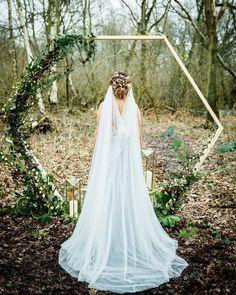 'CLARA' Draped Cathedral Veil by Sash and Veil Shop Lilac Wedding, Wedding Veils, Wedding Bride, Boho Wedding, Wedding Dresses, Wedding Stuff, Formal Hairdos, Bride Veil, Chapel Veil