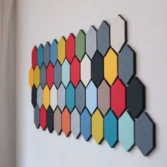 Multifunctional Colorful Hexagon Wool Felt Creative Wall Sticker Smart Collect Board