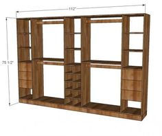 An entire master closet system for under $250, all you have to do is build it! Free #plans at Ana-White.com #closetstorage