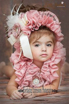 Oh So Sweet...A Lovely Lace Bonnet by Love Baby J Couture.
