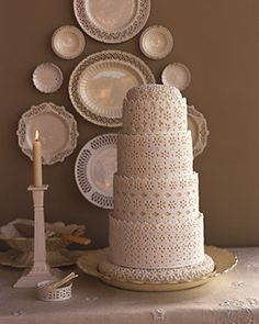 lace #lace #cake #wedding