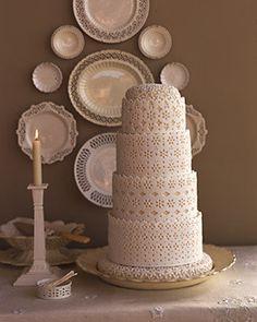 lace #lace #cake #wedding