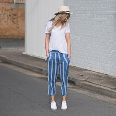 Loving new season Ace & Jig Atlantic Pant, works perfectly with this basic white tee. Ace And Jig, Fashion Books, Classic White, White Tees, Beautiful Outfits, Blue Jeans, Skinny, Cotton, How To Wear
