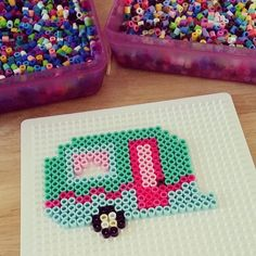 Retro Camper Perler Beads by cmbruckner