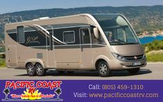 Welcome to Pacific Coast RV. We specialize in selling motorhomes, fifth wheels, travel trailers, and campers. For more info call: (805) 459-1310