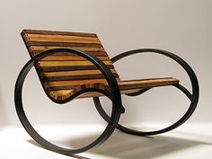 Pant Rocker, a modern take on the traditional rocking chair by Shiner International