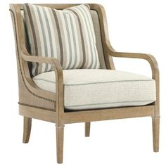 Lexington Monterey Sands Archer Chair with Exposed Wood Arms