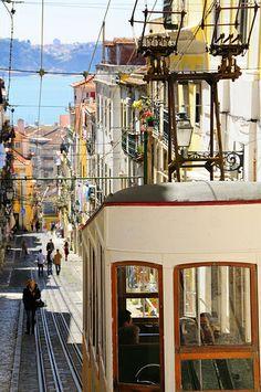 Elevador da Bica. Lisbon, Portugal.