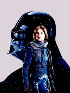 "hardyness: ""Rogue One: A Star Wars Story ""Jyn Erso and Darth vader"" """