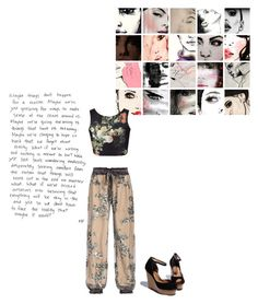 """""""faces"""" by noseforfreedom ❤ liked on Polyvore featuring art"""