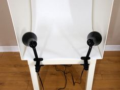 DIY Lightbox for Product Photography | Beautezine: foam core, idea table, 2 lights, clips, Bristol board
