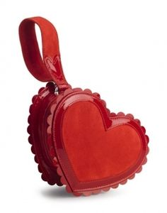 .Red heart bag