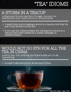 Storm In A Teacup, English Idioms, Tea Cups, Gossip, Shit Happens, How To Make, Cup Of Tea