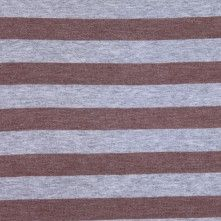 Heathered Gray and Taupe Striped Cotton Jersey
