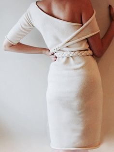One shoulder knit sweater dress. I love this. I would probably never wear it but I LOVE this