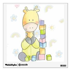 #Giraffe Wall Decal - #nurseryart #nursey #art #baby #cute #print #babies