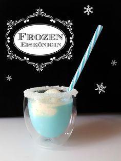 Eiskönigin Kindercocktail Rezept für die Frozen Geburtstagsparty