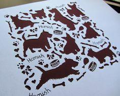 Clare Willcocks: Paper cut Scottie dogs