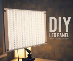 In this Instructable I am going to show you how to make super bright, very sturdy, properly cooled, variable brightness, accurate color producing LED PANEL for. Green Screen Photography, Light Photography, Cool Electronics, Electronics Projects, Diy Studio Lighting, Led Closet Light, Electrical Diagram, Grow Lights For Plants, Led Diy