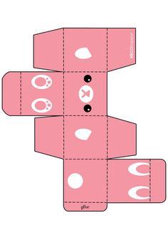 Pink Bunny Gift Box Template by hellohappycrafts.deviantart.com on @deviantART