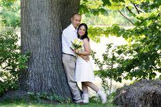 An intimate elopement for two at Niagara Falls' only log wedding chapel. Elope Niagara. www.simplyelope.com