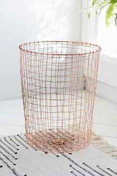 Cabo Copper Wastebasket - Urban Outfitters