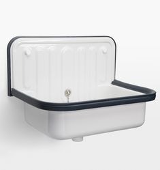 Alape Bucket Sink with Navy Trim 20-1/8in. x 14-3/8in. x 14-1/8in.