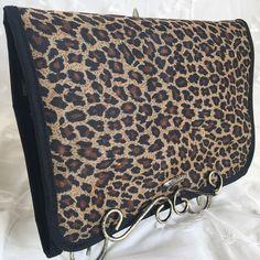 PreZerve Jewelry Organizer Leopard Storage Travel Zip Trifold Pouch Lori Grenier #PreZerve