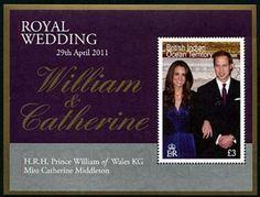 British Indian Ocean Territory Royal Wedding Prince William Stamps
