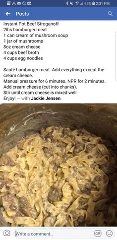 Minus the mushrooms Creamed Mushrooms, Stuffed Mushrooms, Digital Pressure Cooker, First Bite, Beef Stroganoff, Beef Broth, Mushroom Soup, Crockpot Recipes, Instant Pot