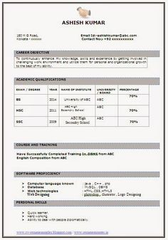Freshers Sample Resume Civil Engineer  Things To Wear